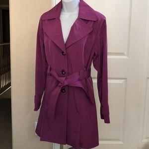 London Fog Purple Raincoat